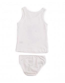 Комплект для девочки маечка с трусиками Единорог Donella 4971 молочный 2010-2