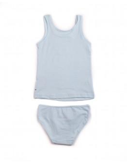 Комплект для девочки маечка с трусиками Котики Donella 561056 голубой 2011-4