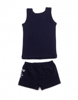 Комплект для мальчика маечка с трусиками Рок ÖTS 7597 темно-синий 2020-1