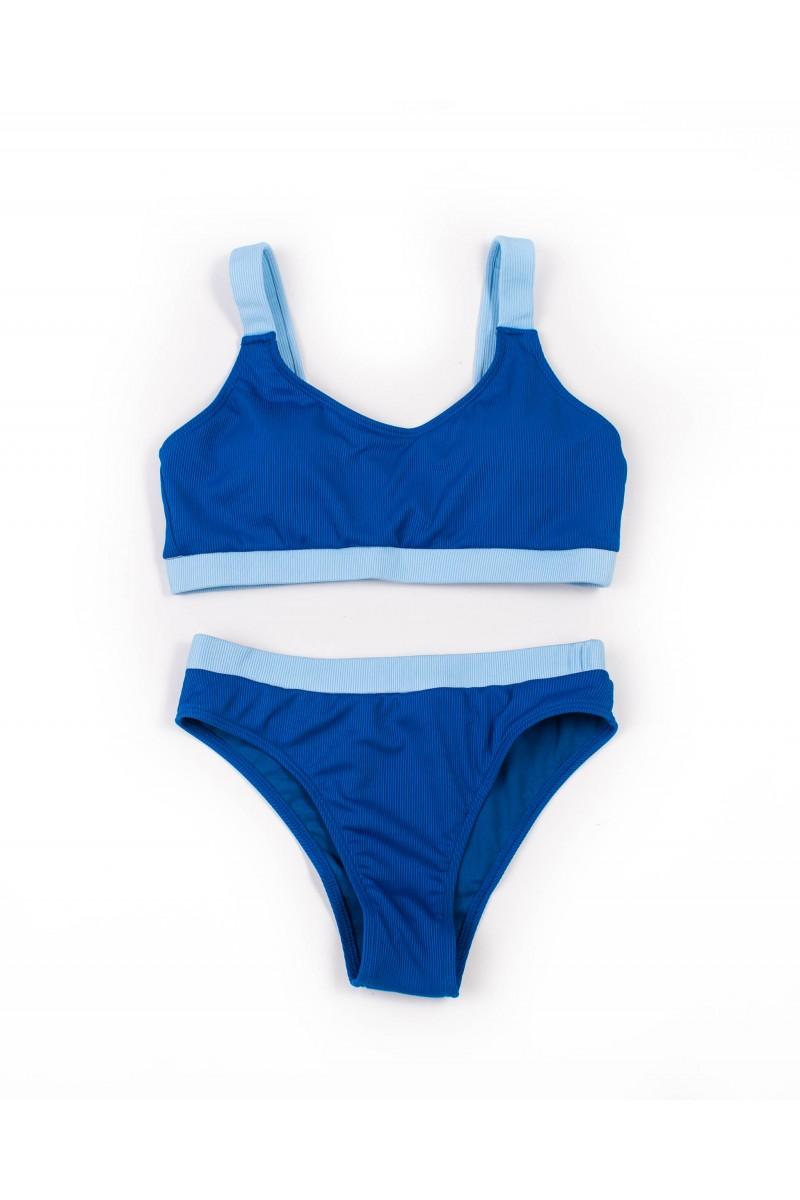 Купальник трикотажный без косточек Samegame 9697 синий 1041-2