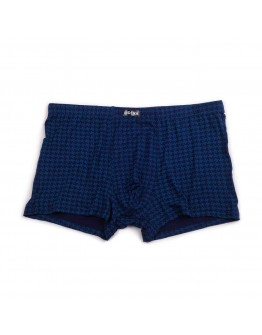 Трусы-боксерки мужские бамбуковые Indena 95301 синие 8001-3
