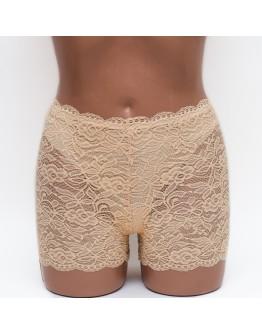 Кружевные женские панталоны Aina 288 бежевые k3669-3