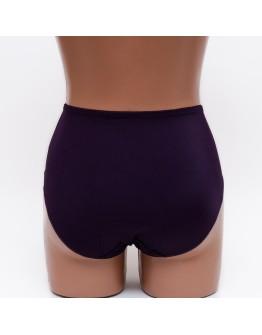 Женские трусики высокой посадки с вышивкой Anfen 4-899 фиолетовые 3866-7