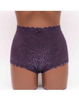 Женские трусики c вышивкой Anfen 408-55 фиолетовые k3496-8