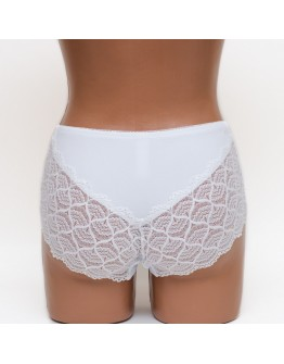 Женские кружевные шортики Annajolly 9525 микрофибра белые k3724-3