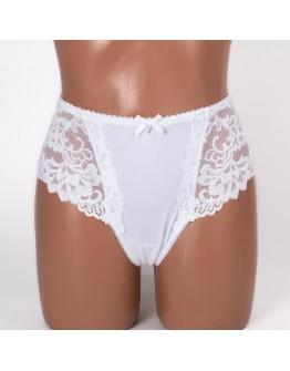 Женские трусики-стринги микрофибра с вышивкой Coeur Joie 9767 белые k3721-9