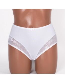 Трусики кружевные женские хлопок ER and DO цвет белый k3181-1