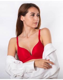 Бюстгальтер формовая чашка без косточек Weiyesi 2060 красный 5363-1