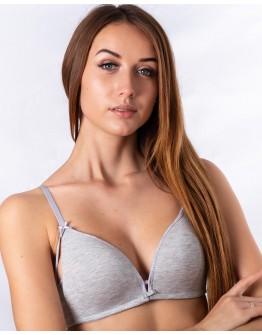 Бюстгальтер спортивный с гладкой чашкой без косточек Weiyesi 5932 серый меланж 5381-1