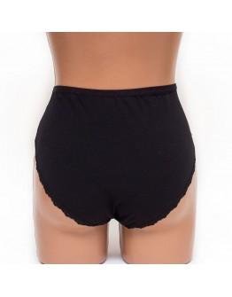 Женские трусы хлопок с кружевом SMX underwear черные k3398-1