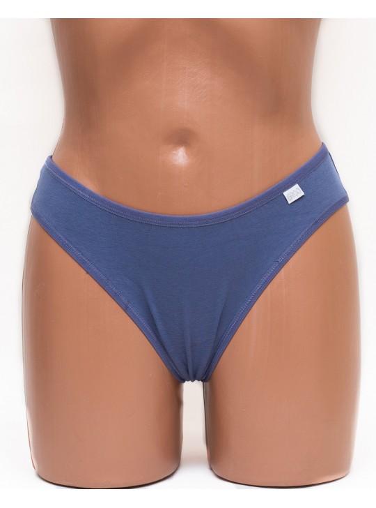 Трусики женские бразилиана хлопок Er and Do цвет джинс k3450-2